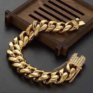Men's Miami Cuban link bracelet